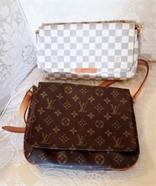 Pair of real Louie Vuitton hand bags