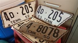 Old Tennessee License Plates