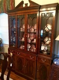 It isn't just a china cabinet, it is a breakfront with Jacksonville history!  The University Club commissioned this stunning piece from North Carolina furniture geniuses Councill Craftsman.  Re-Imagine it filled with your favorite books lit from within!