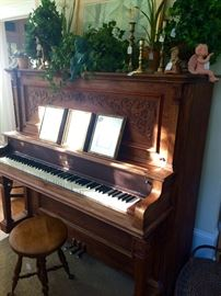 I usually cringe at selling pianos...but this one is pretty special.  I can imagine Wyatt falling for Sadie singing next to this one!  It is drama whether you play or not!