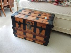 Steamer Trunk with Eagle Lock Co. Lock