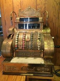 Rare, National Cash Register, Pub Model 442 EL, with Gooseneck Side Lamps, Restored