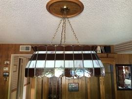 Stained Glass Billiards Lamp
