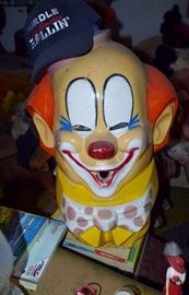 Vintage Carnival clown balloon blower
