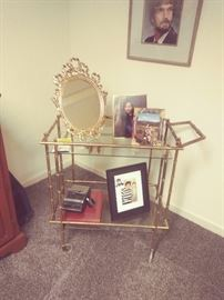 Brass & Glass Tea/Coffee Cart