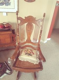 Antique Platform Rocker - circa early 1900's