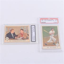 Pair of Graded 1959 Fleer Ted Williams Cards