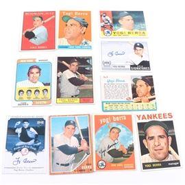 Collection of Yogi Berra Cards