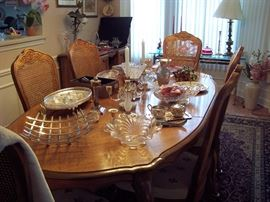 Beautiful Table with 6 Cane Back Chairs
