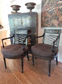 PAIR OF CLASSIC ARM CHAIRS