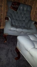 Forslund Sleepy Hollow chair & ottoman..great condition.