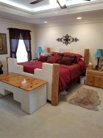 Custom stucco bedroom set - southwest style