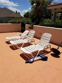Lots of pool furniture
