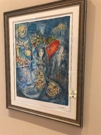 Chagall Lithograph signed and numbered 43/375