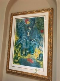 Chagall Lithograph signed and numbered 114/375