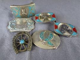 turquoise belt buckles
