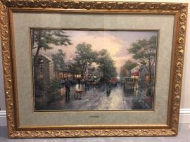 Thomas Kinkade- Carmel, sunset on ocean avenue