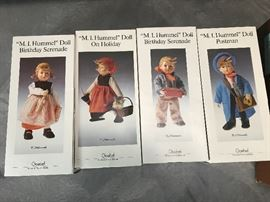 Goebel Hummels M.I. Hummel Doll Birthday Serenade   girl, On Holiday, Birthday Serenade boy, Postman
