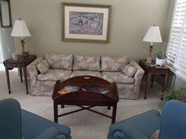 Pembroke tables, sofa, coffee table