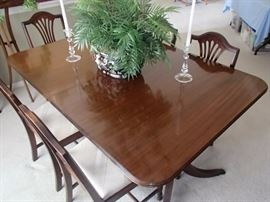 Federal style dining table with 6 chairs