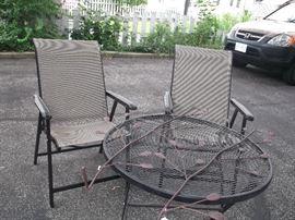 Wrought iron outside patio furniture