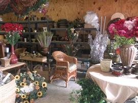 Many vases, flowers all new