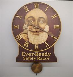 Ever-Ready Safety Razor Advertising clock