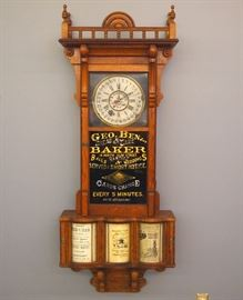 Sidney Advertising clock w/New Haven movement