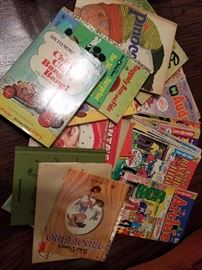vintage children's books and comic books