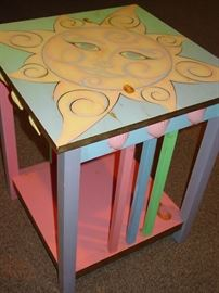 Original Design & Hand-Painted Side Table