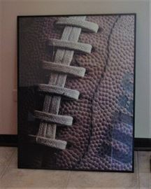 Framed Football Poster