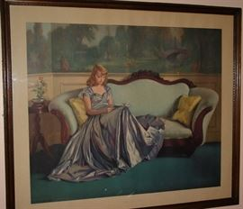 "1944 Lithograph ""The Satin Gown"""