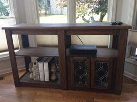 Mid century wood TV stand