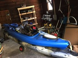 Two Kayaks both equipped with life jackets, paddles and some fishing stuff  BOTH SOLD
