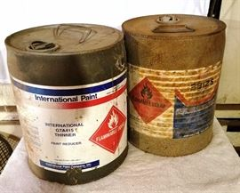 Two Flammable Liquids 5-Gallon Cans