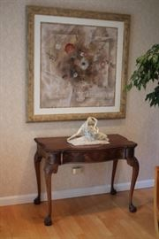 Console Table and Art
