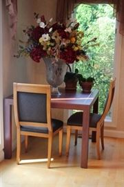 Table, Chairs, Floral Arrangement