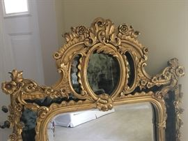 Fabulous gold Scott Shuptrine mirror. 59 x 32