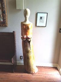 Tall Modern Sculpture / $125.00