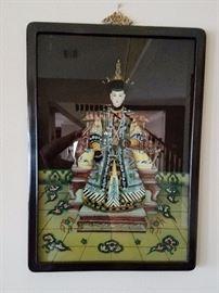 Large Framed Oriental Print #1