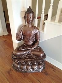 Large Brass Buddha / $200.00