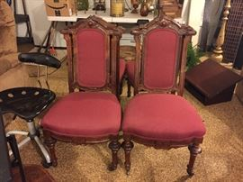 Set of four antique chairs.