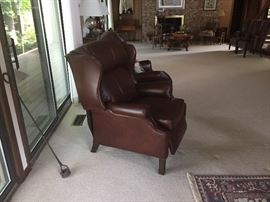 Ethan Allen leather recliner in perfect condition.