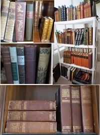 Antiquarian and vintage books.  From 1800s forward