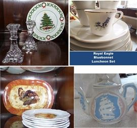 Christmas, Thanksgiving and Bluebonnet luncheon set
