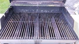 Inside of gas grill