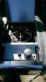 Side burner on gas grill