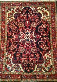 Wool throw rug