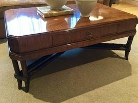 Baker coffee table. Elegant veneer. Perfect condition.