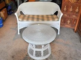 Vintage wicker furniture.